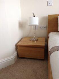 Light Oak Bedside Tables