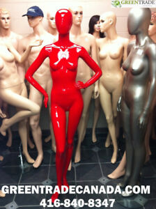 Realistic White & Black Mannequins and Dress forms
