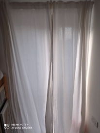 White IKEA curtains