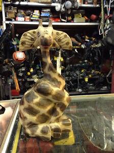 Giraffe Ornament Wood $30