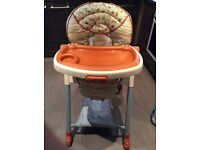 Graco contempo highchair reclines height adjustable