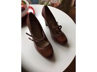 New River Island Brown Leather Shoes