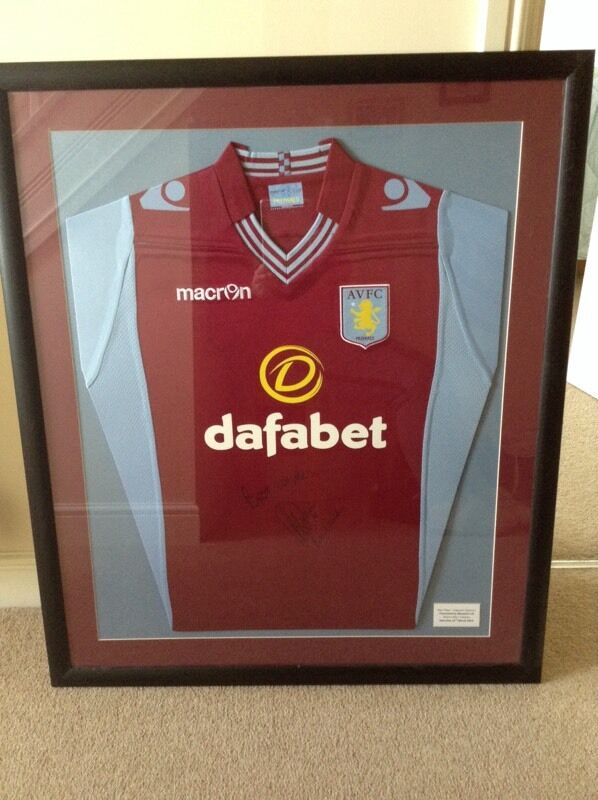Signed by Ron Vlaar Aston Villa shirt framed | in Biggleswade ...