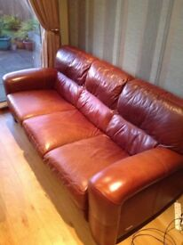 Natural Leather Suite - Sofitalia - 3 + 2 Seater