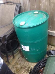Plastic 45 gallon drum for sale.