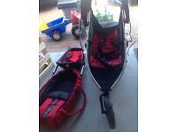 Accessories including cocoon for Phil and Ted Vibe double buggy
