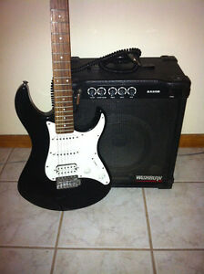 Yamaha guitar and 80W Washburn guitar amp Cambridge Kitchener Area image 1