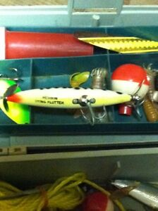 Tackle box with lures ect