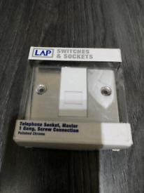 Polished Chrome LAP Telephone wall switch