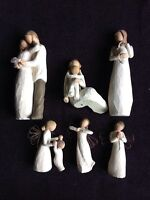 NEW!!! WILLOW TREE CARVED ORNAMENTAL DOLLS