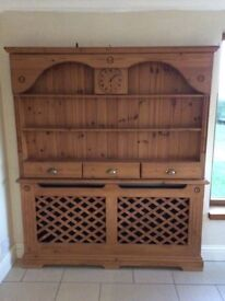 Dresser with radiator cover pine