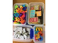 Magnetic numbers, letters and words