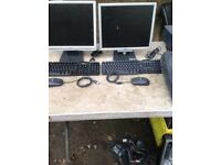 monitors and key boards
