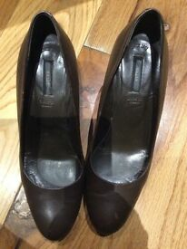 BALLY BROWN REAL LEATHER SHOES size 37EU- 6 1/2US (equivalent to 4UK)