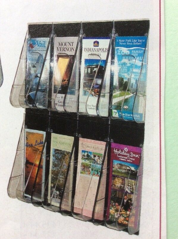 Brand NEW Premier LEAFLET DISPLAY Pockets - 8 Pockets Wall Mounted.