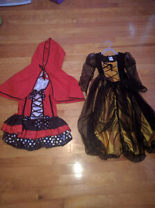 Kids Little red riding hood/ witch light up costume size 4-6