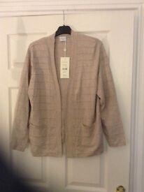 Eastex ladies pale brown loose fitting cardigan size 14