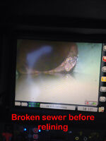 Cure in place sewer pipe relining/ video inspections