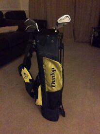 Dunlop children's left-handed golf clubs ex con