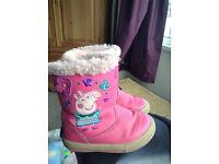 Size 6 peppa pig boots