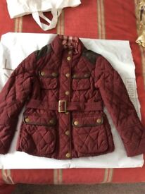 Girl's burgundy quilted Jacket