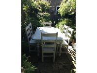 Shabby chic kitchen/dinning table and chairs