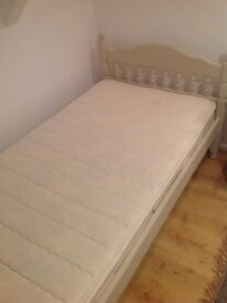 TWO SINGLE BED FRAMES AND ONE SEALY MATTRESS