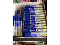 Bulk Box (50) Top Quality MARKER Pen - Blue - Staedtler Brand.