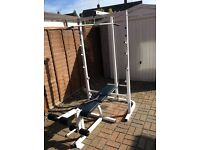 Weider 355 multi gym, weights bench, low row, lat pull down