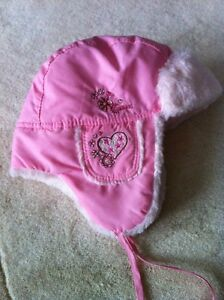 Calikids Faux Fur Eskimo hat light pink size 18-3