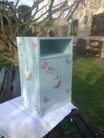 Unicorn and butterfly bedroom cabinet