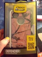 iPhone 4 pink camo otter box
