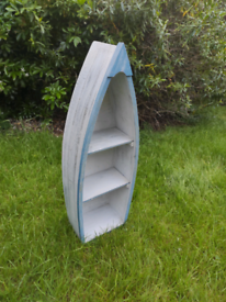 Nautical painted boat shelf, painted wood