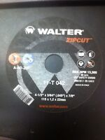 """Walter 41/2"""" ZIPCUT cutting wheel for steel and stainless"""