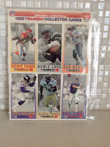1993 McDonalds Football Game Day Collector Cards