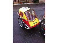 Kids aluminium double bike trailer
