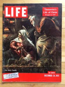 LIFE Magazine December 24, 1951 Kessel Photos, Life of Christ
