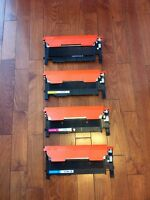 USED CLT406 INK CARTRIDGE SET OF 4