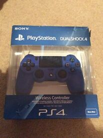 PlayStation 4 wave blue controller with thumb grips