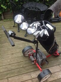 Golf clubs caddie & battery operated golf trolley