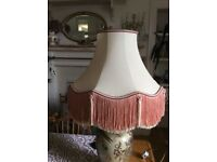 Large fringed lampshade for table lamp or standard lamp retro style