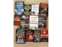 12 thriller, crime, books some brand new