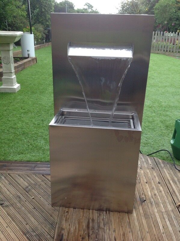 Stainless Steel Water Feature With Planter