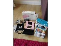 Nintendo DS lite, accessories and 5 games