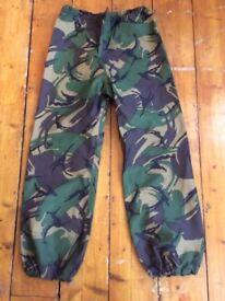 Army DPM Goretex waterproof trousers - VGC