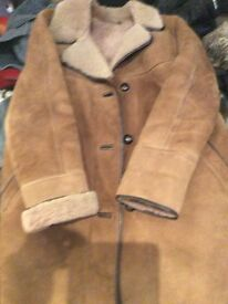 Ladies Sheepskin Long Coat size 14-16 Design Mandoia