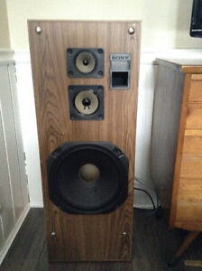 Stunning Vintage Sony SS-C66AV Tower Speakers, Pair.