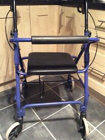 Mobility rollator, disability walking aid. Walker