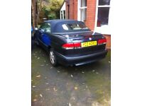 2003 Saab 93 convertible 1 owner 98000 miles engine needs attention £495