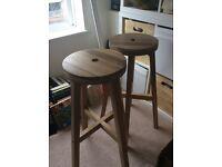 2x Ikea Skogsta bar stool
